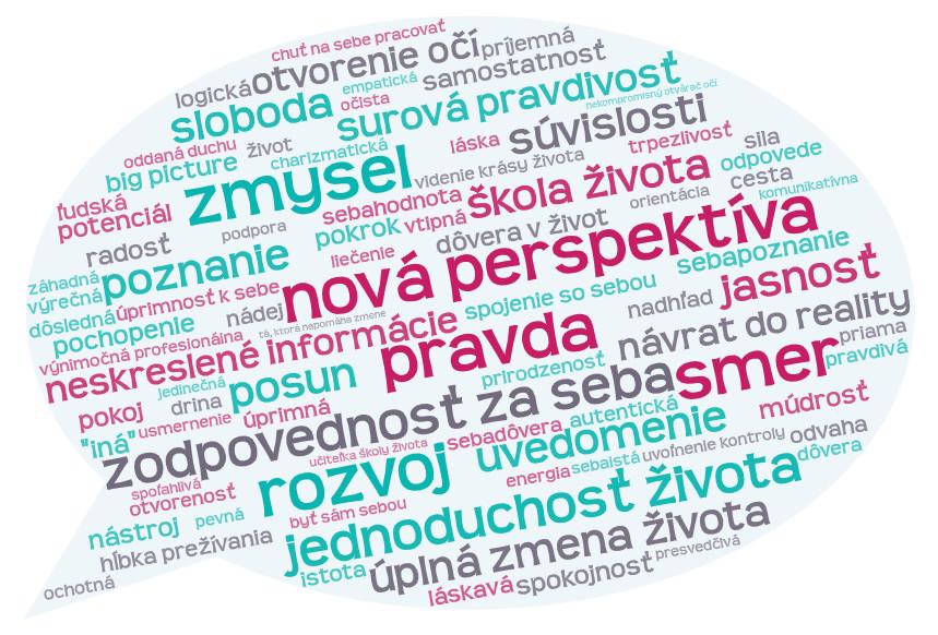 Wordcloud Veronika Madudova - co povedali klienti